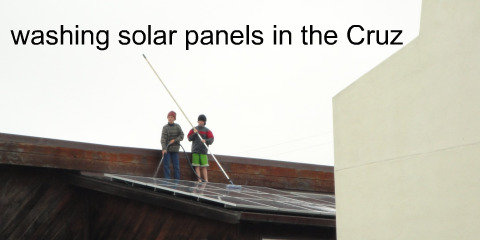 washing solar panels