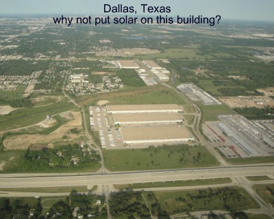 building that needs solar panels in Dallas, TX